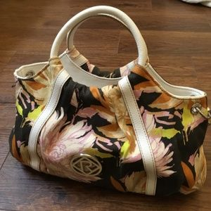 Relic shoulder/handbag/wallet set floral pattern
